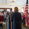 JOED VIERA/STAFF PHOTOGRAPHER- Lockport, NY-Lockport Mayor Anne McCaffrey delivers the annual State of the City address during the Rotary Club's meeting at Lockport Town and Country Club.