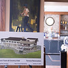 Joed Viera/Staff Photographer- Lockport, NY-Lockport Town and Country proposed terrace renovation rendering sit on an easel inside the soon to be expanded Kenan Room.