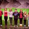 JOED VIERA/STAFF PHOTOGRAPHER-Newfane, NY-Zach Niver, 14, Liv Mazanka, 13, Grace Dixon, 16, Anthony Chavers, 14, Charley Buscaglia, 12, Cameron Stopa, 10, and Annabella Call, 10, rehearse for the Newfane High School production of the Sound of Music as Fredrick, Luisa, Liesl, Kurt, Brigitta, Marta, Gretl Von Tropp