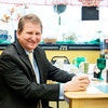 JOED VIERA/STAFF PHOTOGRAPHER-Wilson, NY-Wilson mayoral candidate Arthur Lawson sit with a cup of coffee at the Down By Main Street Diner . Lawson is running unapposed.
