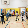 JOED VIERA/STAFF PHOTOGRAPHER- Pendleton, NY-Douglas Regan Elementary 3rd-graders browse the entries of Starpoint's Inventathon in the School's gym.