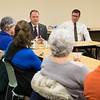 Joed Viera/Staff Photographer- Lockport, NY- Local library representatives meet with State Senator Robert Ortt at the Lockport Public Library to discuss the states plan to cut library funding.