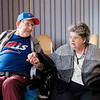 JOED VIERA/STAFF PHOTOGRAPHER-Gasport, NY-John Cull and Nancy Laforme talk with the US&J about their plans for their Valentine's Day marraige at Absolute Care.