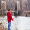 JOED VIERA/STAFF PHOTOGRAPHER-Burt, NY-Brandon Ames, 15,  hopes for a bite at Fisherman's Park