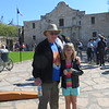 AT THE ALAMO--VERY CROWDED AT SPRING BREAK