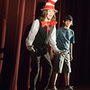Joed Viera/Staff Photographer Lockport, NY-Nicholas Kleinhans and Ethan Koplas play the Cat in the Hat and JoJo in North Park Jr. High's production of Seussical Jr.