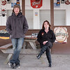 JOED VIERA/STAFF PHOTOGRAPHER-Lockport, NY-Robert Hathaway and his mother  Sue Jackman at the former Open Air Depot. Jackman purchesed the property and aims to re-open the Newfane drinkery as the Firepit Tavern.