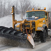 JOED VIERA/STAFF PHOTOGRAPHER-Lockport, NY-A DOT plow clears snow off of Chestnut Ridge Road