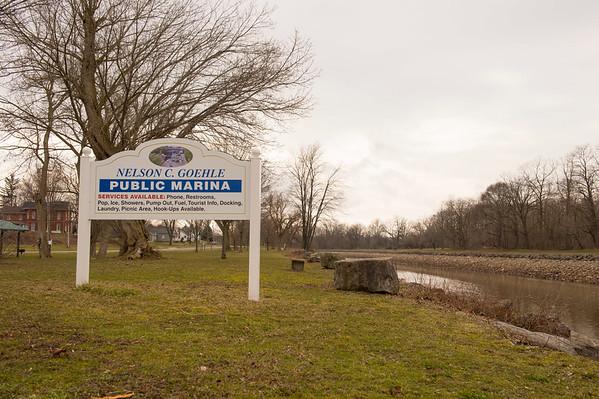 Joed Viera/Staff Photographer Lockport, NY- Ellen Martin is planning on installing a beach near Nelson C. Goehle Marina.