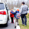 JOED VIERA/STAFF PHOTOGRAPHER-Lockport, NY-Heather Cirillo picks up Ethan and Richard Cirillo, 9 and 5, from Roy Kelly Elementary School