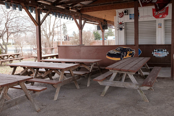 JOED VIERA/STAFF PHOTOGRAPHER-Lockport, NY-The former Open Air Depot. Sue Jackman purchesed the property and aims to re-open the Newfane drinkery as the Firepit Tavern.