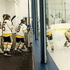 JOED VIERA/STAFF PHOTOGRAPHER-Lockport, NY-The Syracuse Nationals get ready to face the Syracuse Valley Eagles during the State Amateur Youth Hockey Tournament at Cornerstine Arena.