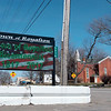 Joed Viera/Staff Photographer Royalton, NY- A new sign outside of Royalton Town Hall displays an image celebrating the town's bicentennial.