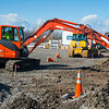 JOED VIERA/STAFF PHOTOGRAPHER-Lockport, NY- An excavator digs around the Dollar General construction site on Transit Road.