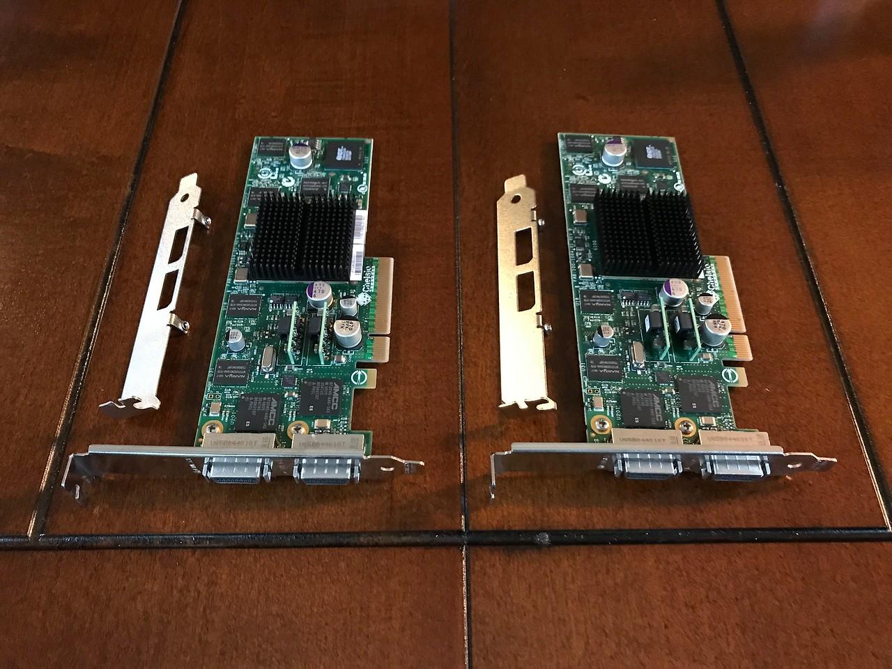2x Chelsio S320E-CX4 10GBe cards