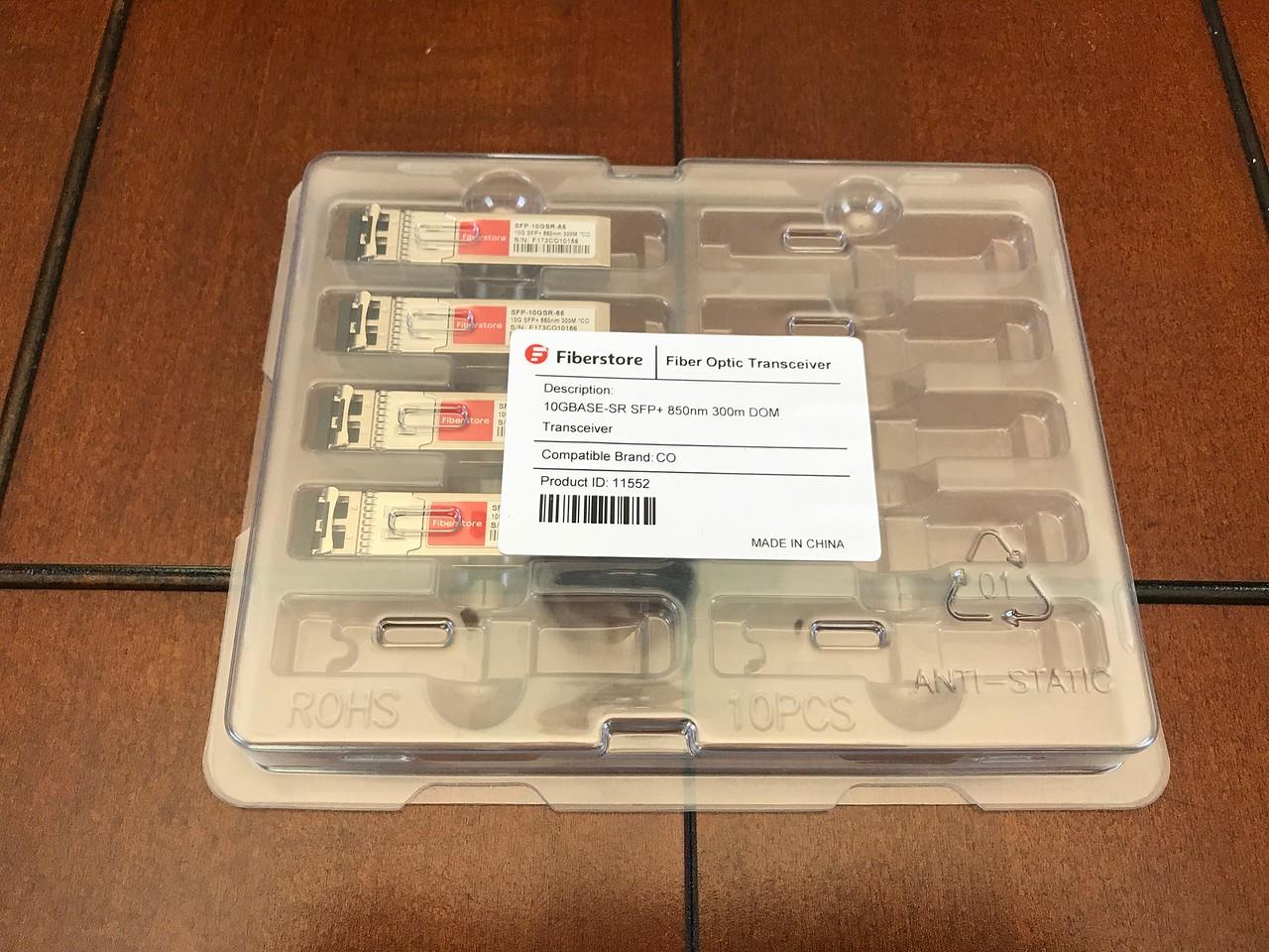 Chelsio-compatible transcievers from Fiberstore