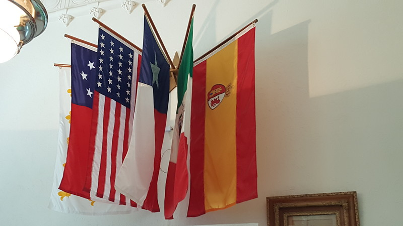 SOME OF THE FLAGS THAT HAVE FLOWN OVER TEXAS