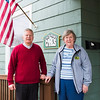 JOED VIERA/STAFF PHOTOGRAPHER-Lockport, NY- Lockport CARES boardmember Marty Nagy and board president Alan Bauch stand outside of the shelter.