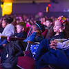 JOED VIERA/STAFF PHOTOGRAPHER-Lockport, NY-1st grade students from Charter School for Applied Technology in Tonawanda Lucas Candino, Nyhla Cleveland, Nyomi Figuero and Luis Santiago watch a performance of Beauty and the Beast at the Palace Theatre.