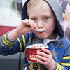 JOED VIERA/STAFF PHOTOGRAPHER-Lockport,NY- enjoy's a cup of vanilla with sprinkles from the Coldstone ice cream truck.