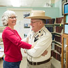 JOED VIERA/STAFF PHOTOGRAPHER-Lockport, NY- Dick Gallagher shows Cindy Smist how to do a Square Dance step he dubs the 4H swing at the Niagara County Historical Society.