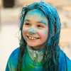 """JOED VIERA/STAFF PHOTOGRAPHER-Lockport, NY- Ryann Heary, 8, after participating in the Lockport Lions """"My School Color Run"""" during the Family Literacy Night and Fitness Fair at North Park."""