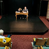 JOED VIERA/STAFF PHOTOGRAPHER-Lockport, NY-Director Peg Merrall watches as Kathleen Rooney and Geoff Koplas read from Love Letters, a play the pair are acting in at the Taylor Theatre.