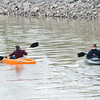 JOED VIERA/STAFF PHOTOGRAPHER-Lockport, NY- Jessica Chase, 15, and Chris Baldwin, 21, kayak down the Erie Canal after rains died down Tuesday evening.