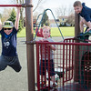 JOED VIERA/STAFF PHOTOGRAPHER-Lockport, NY-  CJ Buttery, 10, Michael McDonald, 6, and Marshal McDonald, 4, play at Day Road Park.