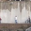 JOED VIERA/STAFF PHOTOGRAPHER-Lockport, NY-A group of kids walk around the Locks.