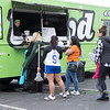 JOED VIERA/STAFF PHOTOGRAPHER-Lockport,NY- A line forms outside of Llyod's taco truck.