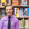 JOED VIERA/STAFF PHOTOGRAPHER-Barker, NY- Barker High School senior Josh Richbart in the school library.