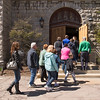JOED VIERA/STAFF PHOTOGRAPHER-Lockport, NY-Participants follow the cross into First Presbyterian Church on Church Street during the crosswalk.