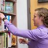 JOED VIERA/STAFF PHOTOGRAPHER-Barker, NY- Barker High School senior Josh Richbart looks through SAT books in the school library.