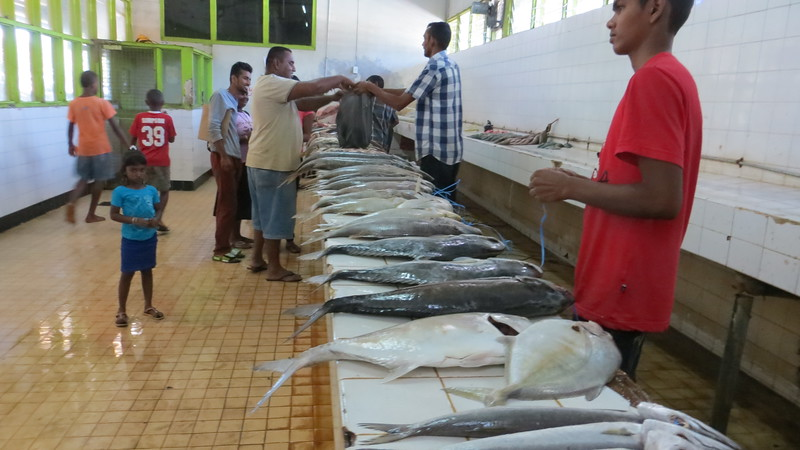 IT REALLY WASN'T COOL IN THE FISH MARKET. IT WAS A SEPARATE ROOM TO CONTROL THE FISHY SMELL.