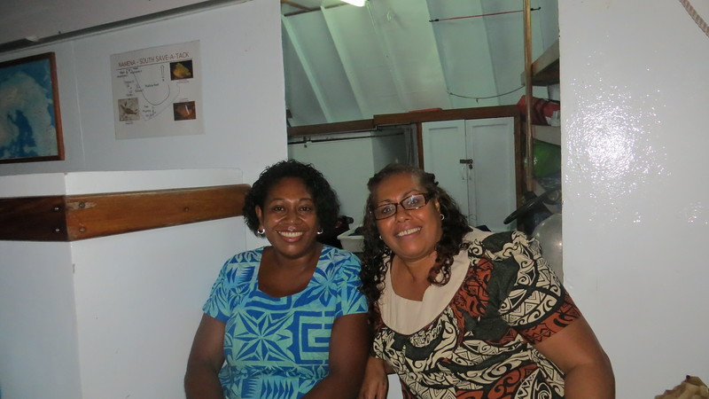 MARIA AND SULI ALL DRESSED FOR THE KAVA PARTY