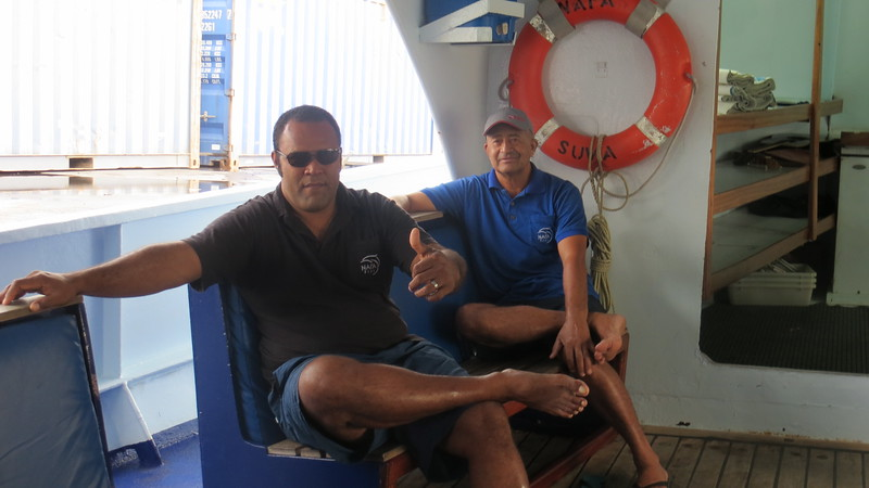 PENI, CHIEF ENGINEER AND ANGUS, CHIEF OFFICER
