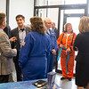 JOED VIERA/STAFF PHOTOGRAPHER-Lockport NY-Dozens gather in the Challenger Center lobby during their open house event.