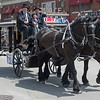 JOED VIERA/STAFF PHOTOGRAPHER-Lockport, NY-Prudden and Kandt's horse drawn carraige rolls down Main Street during Lockport's Memorial Day Parade.