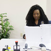 JOED VIERA/STAFF PHOTOGRAPHER-Lockport, NY- Probation officer Tiffany Harper-Giansante works in her office.