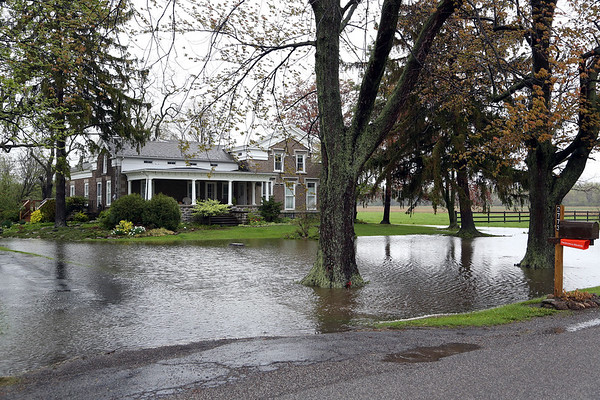 Stephen M Wallace/Contributer- Wilson, NY- The front yard of 2773 Maple Road floods after yesterday's heavy rain fall.
