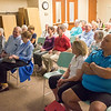 JOED VIERA/STAFF PHOTOGRAPHER-Lockport, NY-An impressed audience laughs during Dave Ruch's demonstration at the Lockport Public Library.