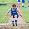 JOED VIERA/STAFF PHOTOGRAPHER-Medina NY-Newfane's  James Essenberg(Check Spelling) competes in Medina High School's track meet.