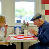 JOED VIERA/STAFF PHOTOGRAPHER-Lockport, NY-  Florence Darroch and John P Oates enjoy a late afternoon meal at Widewaters.