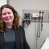 JOED VIERA/STAFF PHOTOGRAPHER-Pendleton, NY-Dr. Patricia Danaher stands in a patient room at her new office on Campbell Blvd.