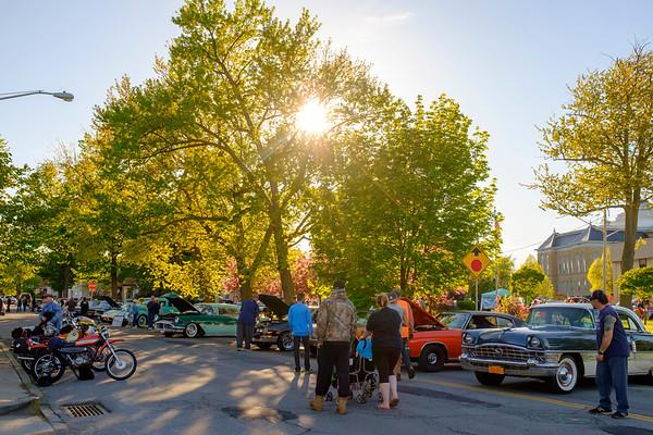 JOED VIERA/STAFF PHOTOGRAPHER-Lockport, NY-  Ida Fritz Park hosts the year's first Monday Night Car Cruise.