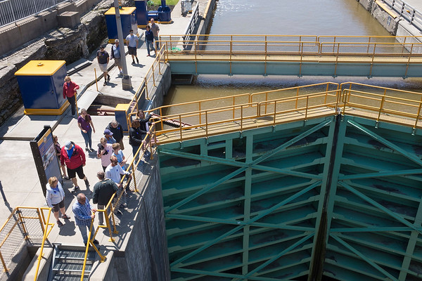 JOED VIERA/STAFF PHOTOGRAPHER-Lockport, NY-A group tours the Locks Wednesday afternoon.