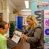 JOED VIERA/STAFF PHOTOGRAPHER-Lockport, NY-Emmett Belknap 6th graders recieve laptops as prizes for winning a Steam competetion.
