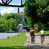 JOED VIERA/STAFF PHOTOGRAPHER-Lockport, NY-Cyclists take a ride along the Canal Trail.