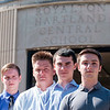 JOED VIERA/STAFF PHOTOGRAPHER-Lockport, NY-Derek Jaques, Benjamin Schwab, Patrick Sheelar and Joe DiBenedetto, all Royalton High School juniors, will join students from across the state in the American Legion's Boys State program.